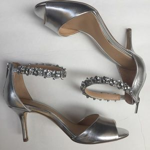 Badgley Mischka Jewel Silver Metallic Heels